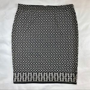Max Studio Printed Winter Skirt